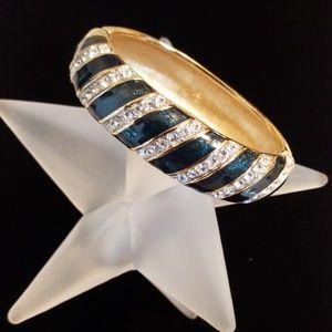 Faux Diamond and Enamel Bangle